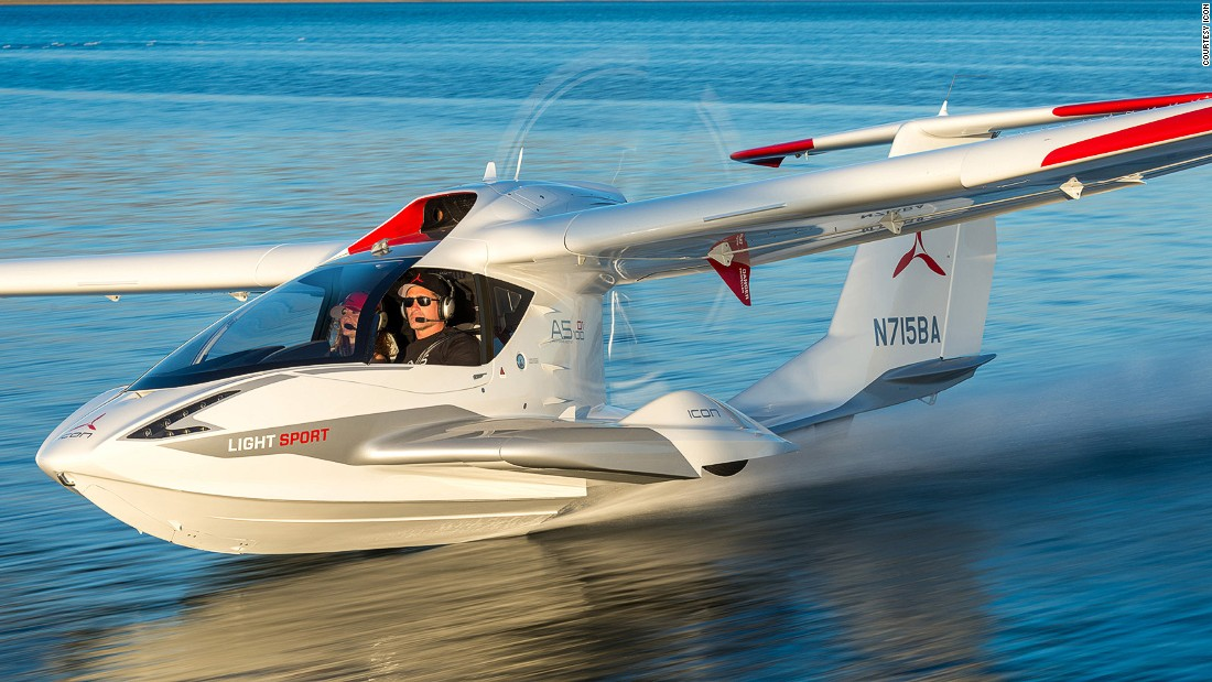 Lilium is part of a fresh generation of design-led light aircraft shaking up an industry with new concepts -- like the Icon A5, pictured.