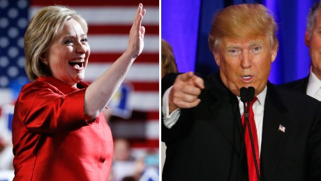 Hillary Clinton and Donald Trump on the 'woman card'
