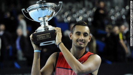 Tennis 'bad boy' Nick Kyrgios seizes maiden ATP Tour title