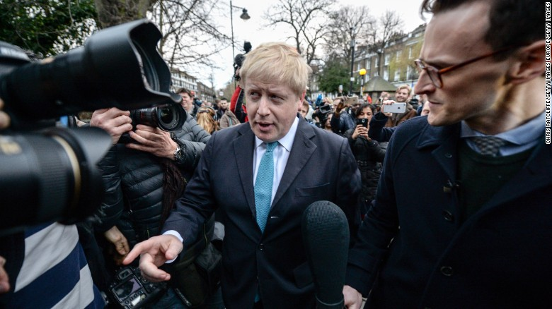 London Mayor Boris Johnson backs UK exit from EU