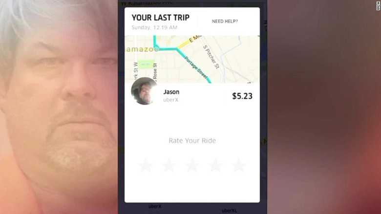 Kalamazoo Uber rider: 'You're not the shooter are you?'