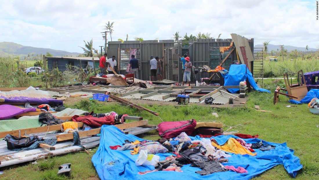 "On Fiji's main island Viti Levu, most of the damage was sustained in the north and western areas, as seen in this image posted by the Fiji government on <a href=""https://www.facebook.com/FijianGovernment/"" target=""_blank"">Facebook.</a>"