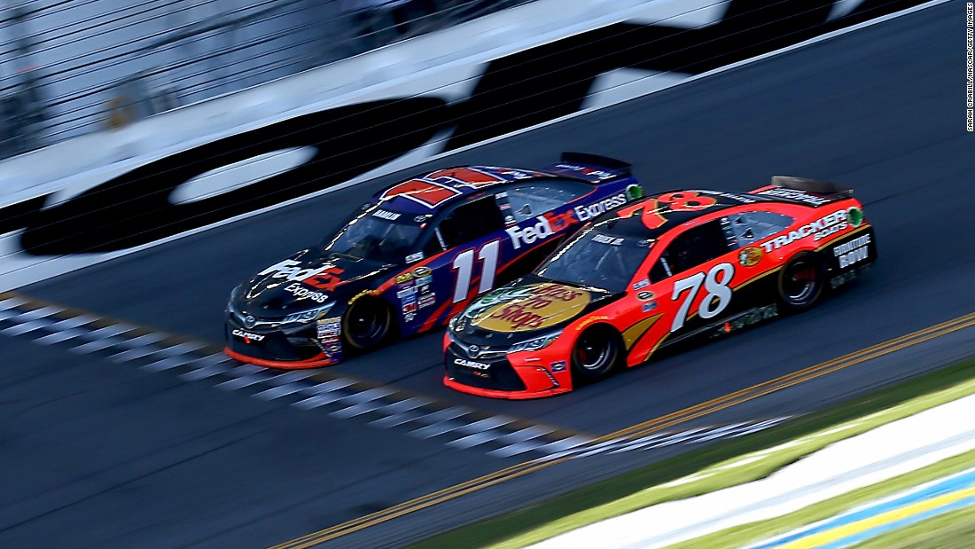 "Denny Hamlin edges Martin Truex Jr. to win the Daytona 500 on Sunday, February 21. Hamlin won by 0.011 seconds in what was <a href=""http://bleacherreport.com/articles/2618491-daytona-500-2016-results-winner-standings-highlights-and-reaction"" target=""_blank"">the closest finish in race history.</a>"