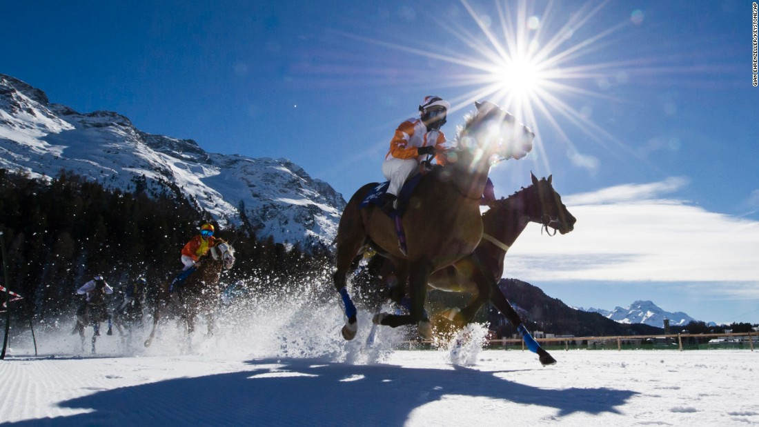 "Horses race on a frozen lake in St. Moritz, Switzerland, on Sunday, February 21. <a href=""http://www.cnn.com/2016/02/16/sport/gallery/what-a-shot-sports-0216/index.html"" target=""_blank"">See 38 amazing sports photos from last week</a>"