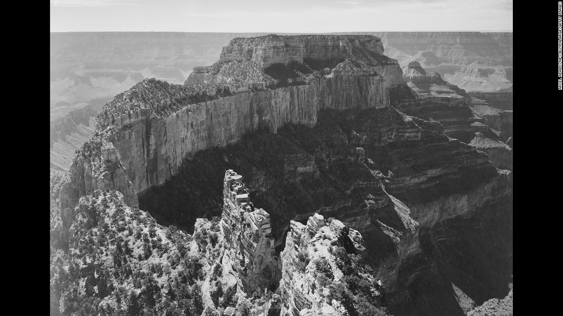 Ansel adams at the grand canyon for Ansel adams mural project 1941