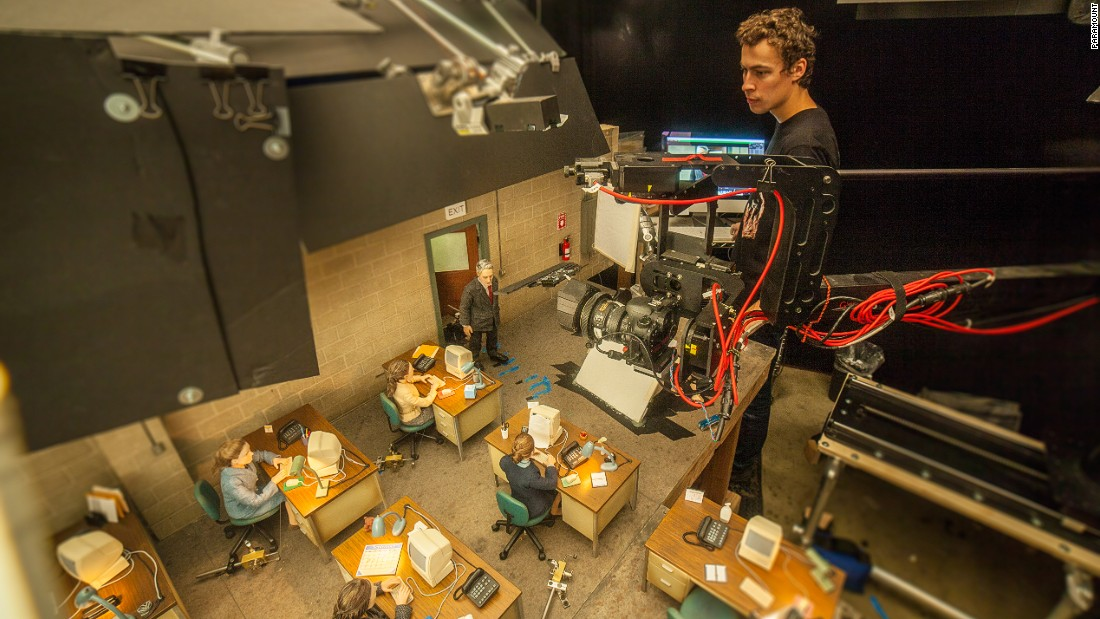 "Animator Dan Mackenzie on the set of ""Anomalisa."" Driscoll says that because of the Californian heat in the studio, sets would often expand and contract, meaning crews would have to wait for the same conditions to restart filming, otherwise the shot failed to align."