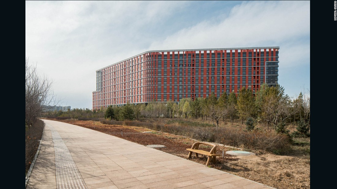 Olivier photographed the city for his <em>Ordos - A Failed Utopia </em>photo series.