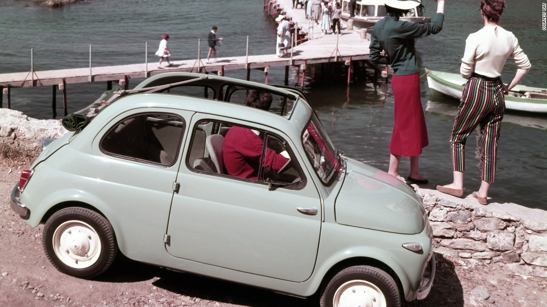 <em>Designed by Dante Giacosa, 1957 (to 1975)</em><br />Since the early 1900s Fiat has dominated the Italian car market. The Fiat 500 is interesting as it was deliberately designed as a reasonably priced car -- an answer to Volkswagen's Beetle. The accessible, egalitarian design resulted in a huge cross section of Italian society driving a Fiat 500.