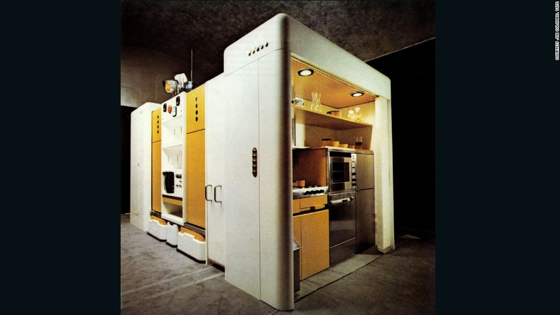 "<em>By Joe Columbo, 1971</em> <br />This was seen as industrial designer Cesare ""Joe"" Colombo's swan song, as he died shortly after creating it. This is one realisation of Le Corbusier's modernist idea of a 'machine for living', attempting to meet all domestic needs in one compact unit."