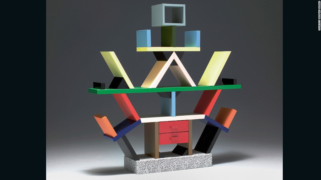 <em>By Ettore Sottsass for Memphis, 1981</em>  <br />From Italy via mid-century USA, this attention-grabbing shelving unit epitomizes Postmodern design and the Memphis style, the radical design collective Sottsass founded in 1981.