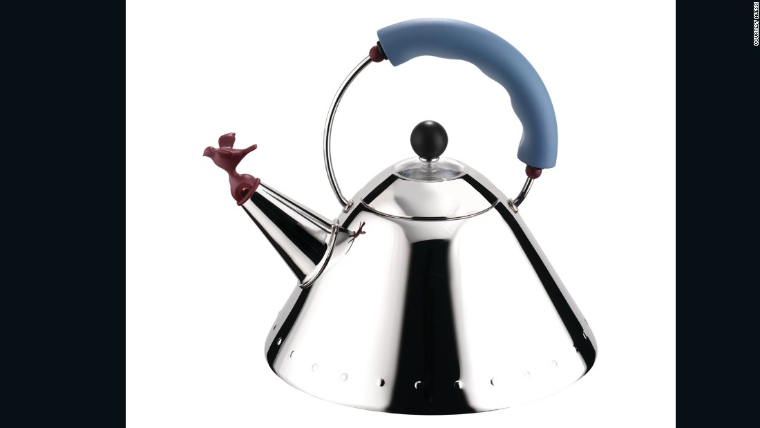 <em>By Michael Graves for Alessi ,1985 -- </em>Taking the phrase 'whistle while you work' quite literally, Alessi's design brought fun into the kitchen and launched a thousand imitations. It also spawned a family of related accessories by the brand.