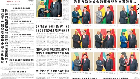 The December 4, 2015 front page of the People's Daily had 10 photos of Xi Jinping