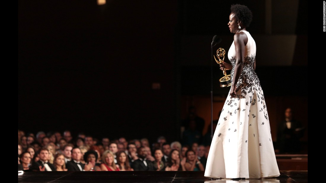 "Viola Davis made history for being the first black woman to win an Emmy for a leading role in a dramatic series, ""How to Get Away With Murder."" Davis gave a stirring speech about diversity and access, making sure to acknowledge other black actresses like Gabrielle Union, Kerry Washington and Taraji P. Henson."