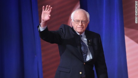 Bernie Sanders participates in a Town Hall meeting hosted by CNN and moderated by Chris Cuomo at the University of South Carolina on February 23, 2016, in Columbia, South Carolina.