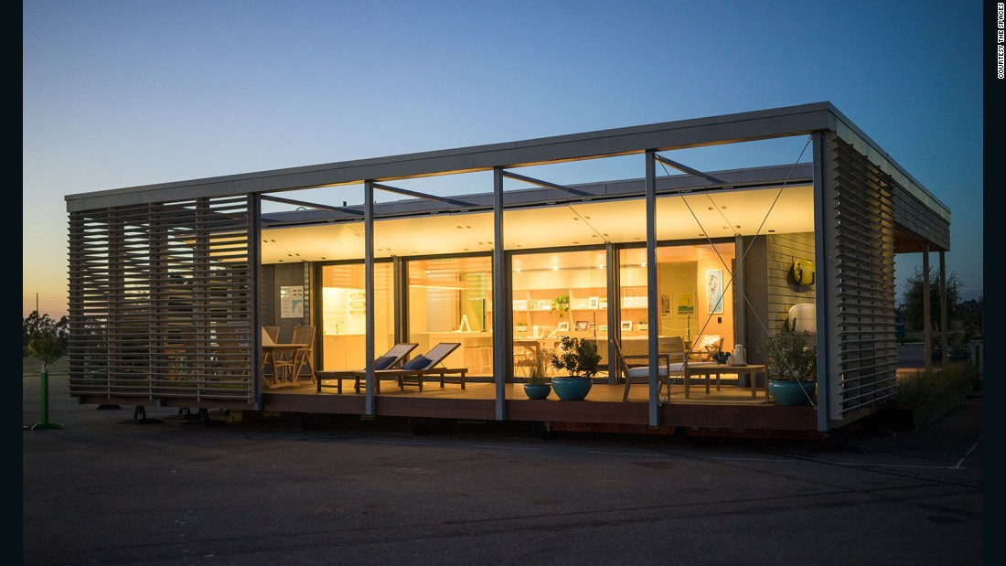 "<a href=""http://surehouse.org/the-house/"" target=""_blank"">Sure House</a> is the Stevens Institute of Technology's entry to the 2014 Solar Decathalon. The 1,000 sq ft beach house adopts a low-slung, 1960s Modernist form but applies cutting-edge materials and technology. The structure uses 90 percent less energy than conventional US homes and is fully solar powered. Flood shutters and fiber composite sheathing repurposed from retired boats ward off floodwaters. Thanks to off-grid solar energy storage, when the house is all bottled up during and after a storm, it can function as normal and even share its surplus with the neighborhood. The model may soon be replicated across vulnerable coastal communities."