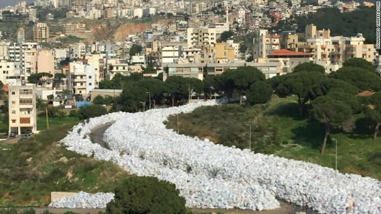 'River of trash' chokes Beirut suburb