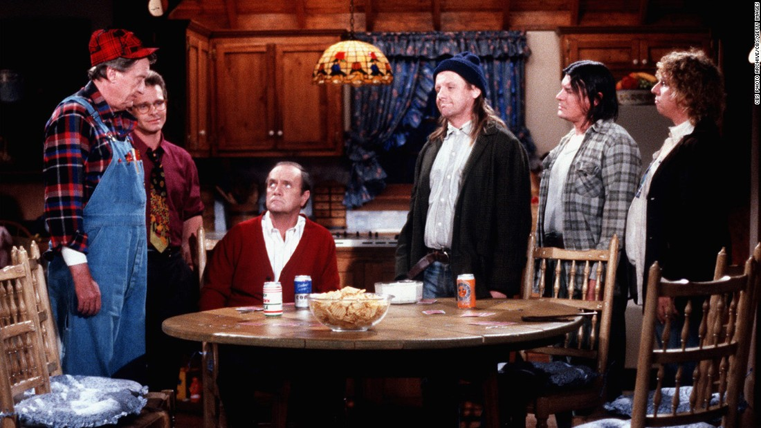 "<strong>'Newhart':</strong> Bob Newhart, seated, also reinvented himself in the '80s with his second self-titled comedy series. The show, which ran from 1982-1990, featured an eclectic cast of characters, including Larry, Darryl and their other brother Darryl. In the series' final episode, Newhart wakes up next to Suzanne Pleshette, who played his wife on ""The Bob Newhart Show,"" revealing that the entire ""Newhart"" series had been a dream."