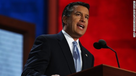 Nevada Gov. Brian Sandoval speaks during the Republican National Convention at the Tampa Bay Times Forum on August 28, 2012 in Tampa, Florida.