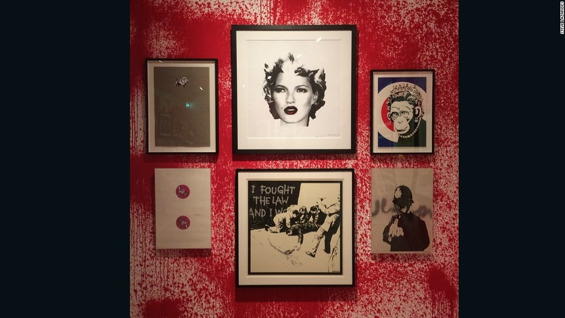 """These are six Banksy prints from a show I did for Sotheby's S2 in 2014, taken from my personal collection. I warned Sotheby's how busy the show would be but I'm not sure they believed me... They had over 15,000 people in two weeks. I think it was one of the busiest shows they've ever had."""