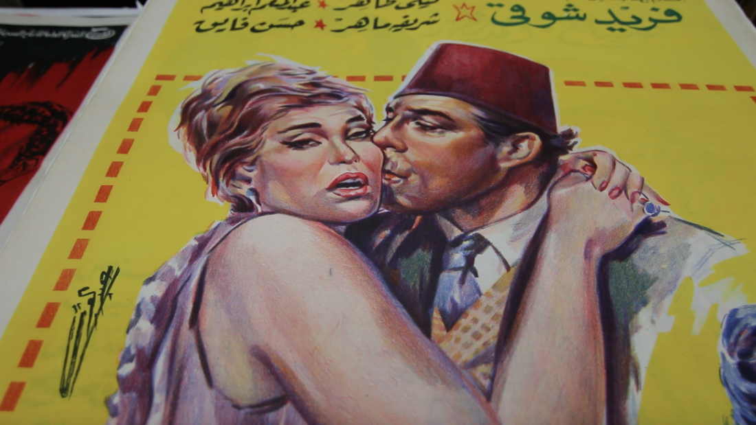 Abboudi Abou Jaoude has collected 20,000 vintage Arab movie posters in his archive in Beirut. <br />