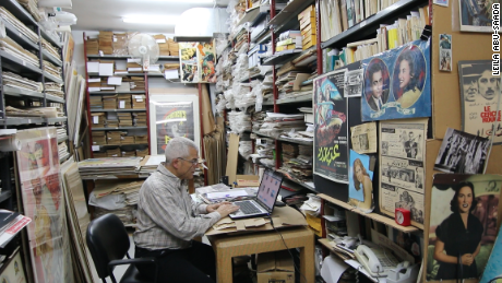 Abboudi Abou Jaoude sits in his office in Hamra, Beirut.