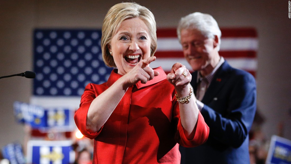 "Democratic presidential candidate Hillary Clinton -- backed by her husband, former President Bill Clinton - greets supporters at a caucus rally in Las Vegas on Saturday, February 20. Clinton <a href=""http://www.cnn.com/2016/02/20/politics/nevada-caucus-democrats-2016/"" target=""_blank"">notched a decisive win</a> in Nevada's Democratic caucuses."