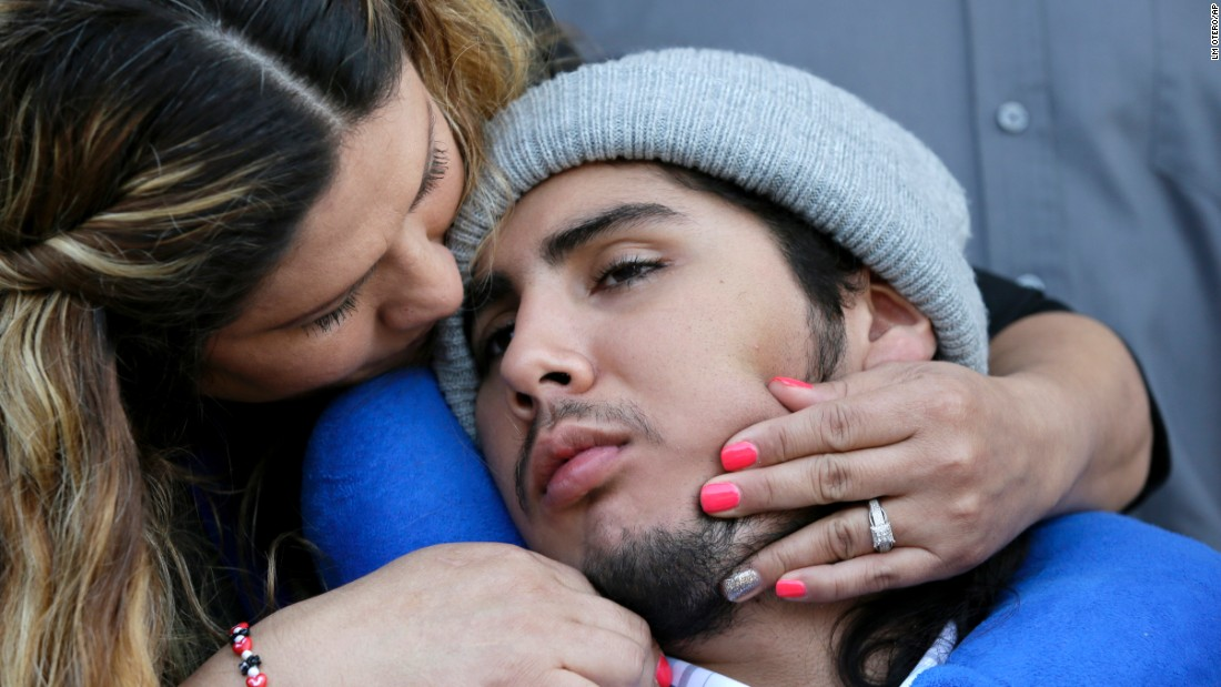 "Sergio Molina is hugged by his mother, Maria Lemus, after a juvenile court hearing for Ethan Couch on Friday, February 19. Molina was disabled in a deadly drunken-driving crash that Couch was convicted of in 2013. The case made national news when a judge sentenced Couch to 10 years probation instead of jail time. During the trial, Couch's lawyers used an ""affluenza"" defense, suggesting he was too rich and spoiled to understand the consequences of his actions. But a Texas judge just recommended that Couch's probation <a href=""http://www.cnn.com/2016/02/19/us/texas-affluenza-ethan-couch/"" target=""_blank"">be transferred from juvenile court to adult court</a> -- a long-expected move that prosecutors say could see him serve more jail time."