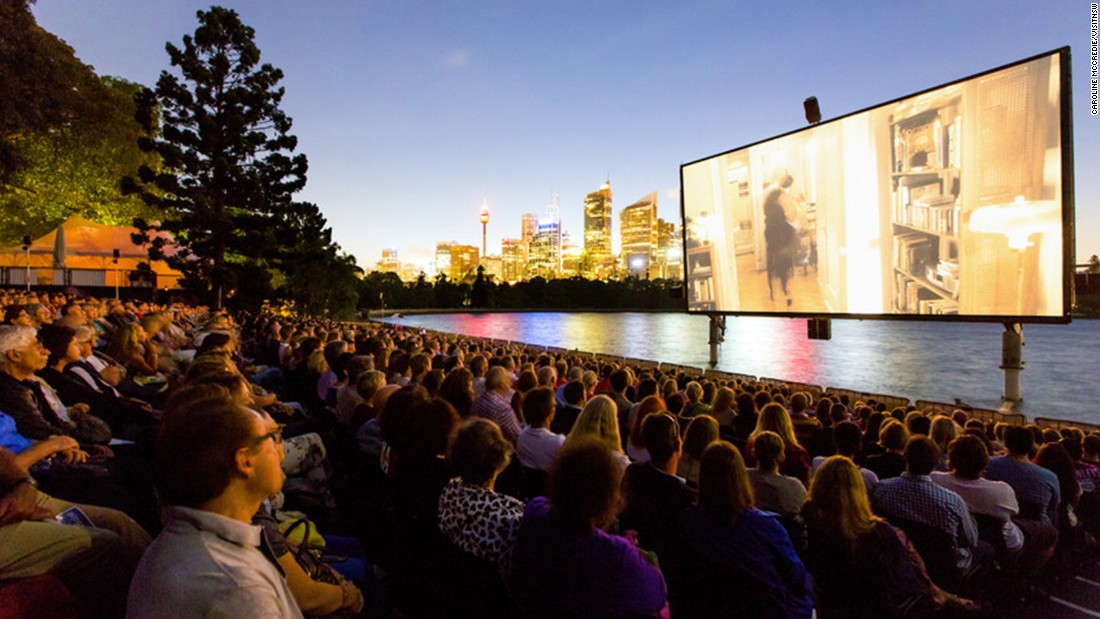 "<a href=""http://www.stgeorgeopenair.com.au/"" target=""_blank"">St.George OpenAir Cinema</a>, located at Sydney's Mrs Macquaries Point, entertains up to 2,000 moviegoers with a hydraulically raised screen every January and February."