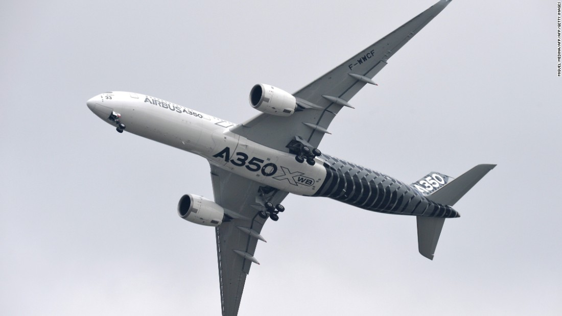 Launched in response to the success of the Boeing 787, the A350 is a wide-body long-haul airliner that holds between 280 and 400 passengers. Its maiden flight took place in 2013.