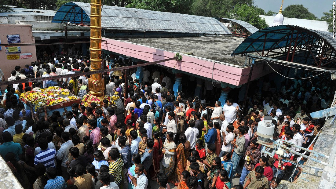 """Our lord is answering the prayers,"" a priest at the temple, S. Rangarajan, tells CNN."