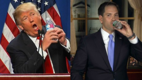 Donald Trump Marco Rubio water state of the union_00000000