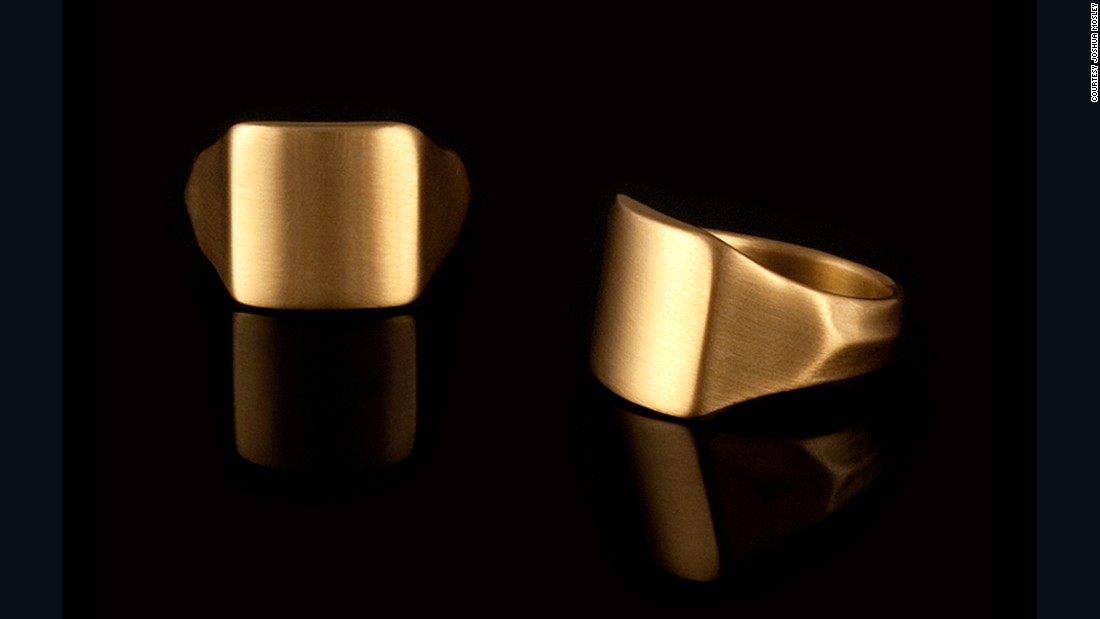 """Easily the 'hero' piece of our collection, Metal for Men, this ring, The Dave, was named after Todd's dad who stacked his wedding band behind his signet ring. Available in 18-karat or 20-karat gold, and in platinum, The Dave is strong, sculptural and luxe. It looks great alone or piled-up with one of our bands, allowing guys to join in the fun."" -- Todd Vladyka and Jim Hinz, Founders of <a href=""http://editionsdere.com/"" target=""_blank"">Editions De Re </a>"