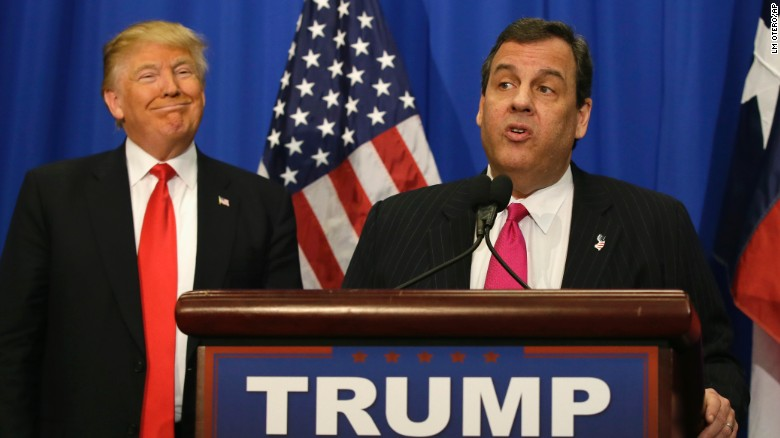Trump unveils big get: Gov. Chris Christie