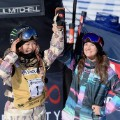 Chloe Kim and Kelly Clark womens snowboard halfipipe