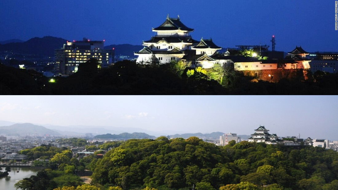 The secret to getting a great Wakayama castle photo is to book a castle-view room.