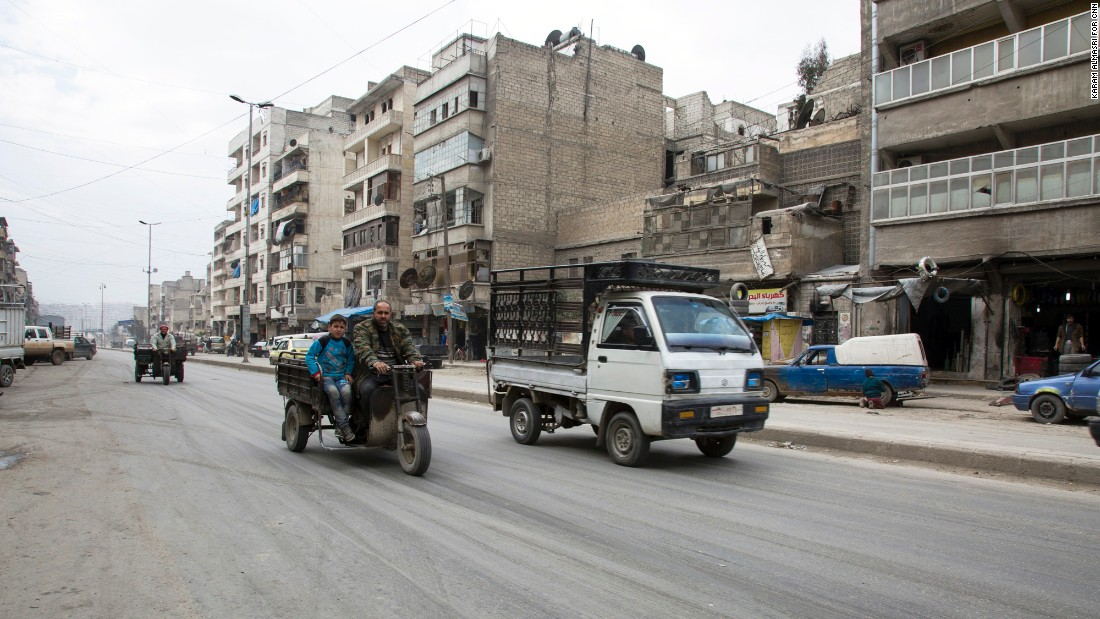 Streets of Aleppo are relatively quiet on Saturday, February 27, after a temporary ceasefire takes effect. Sporadic violence between militants and some rebel groups was reported around the country, but it appeared to have diminished significantly.