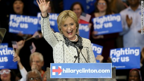 Democratic presidential candidate, former Secretary of State Hillary Clinton thanks supporters after delivering a victory speech at an event on February 27, 2016 in Columbia, South Carolina. Clinton defeated rival Democratic presidential candidate Sen. Bernie Sanders (D-VT) in the Democratic South Carolina primary. (Photo by Win McNamee/Getty Images)
