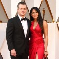oscars red carpet 2016 Matt Damon and Luciana Barroso