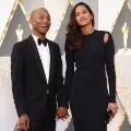 oscars red carpet 2016 Pharrell Williams and Helen Lasichanh