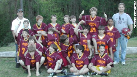 Sean Dever, top row fifth from left, with his 2007 summer lacrosse camp team.