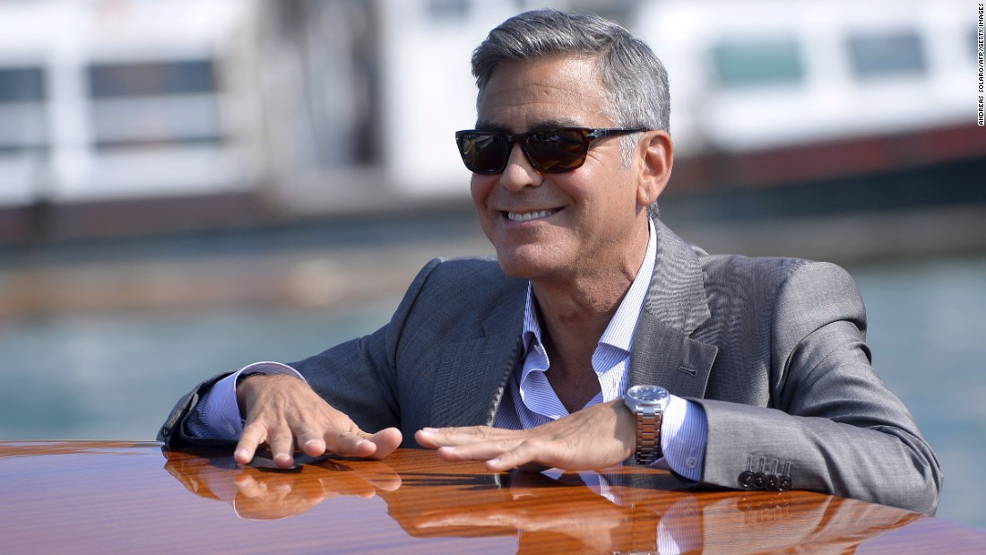 "One signature of George Clooney's look is his salt-and-pepper hair. In a recent interview with <a href=""http://www.bbc.co.uk/programmes/p02ryvl0"" target=""_blank"">BBC Radio</a>, Clooney said he will never dye his hair to fight off the appearance of aging. Click through our gallery to see more famously gray-haired celebrities."
