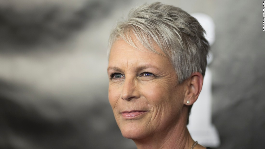 Actress Jamie Lee Curtis, 57,  stopped coloring her hair in 2000 and is known for her short, edgy, silvery haircut.