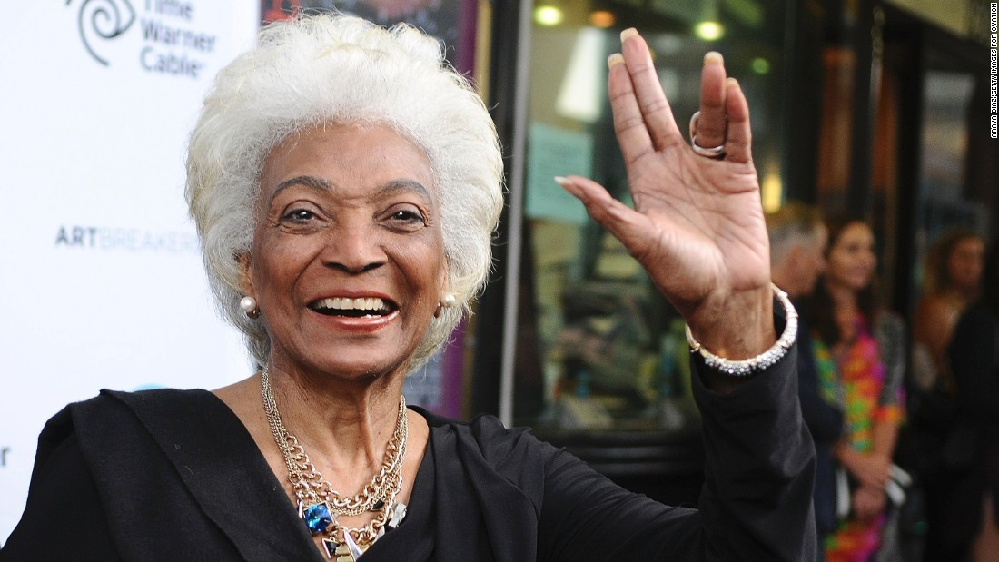 "Nichelle Nichols portrayed Lt. Uhura in the original ""Star Trek"" TV series and films. Now 83, she's keeping her silver-gray hair in recent roles."