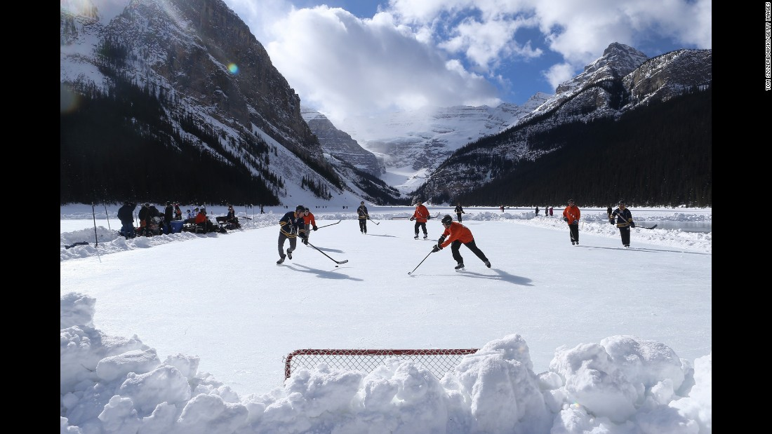 "People play on Alberta's Lake Louise during the annual Pond Hockey Classic on Saturday, February 27. <a href=""http://www.cnn.com/2016/02/23/sport/gallery/what-a-shot-sports-0223/index.html"" target=""_blank"">See 31 amazing sports photos from last week</a>"