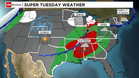 Super Tuesday severe weather outlook