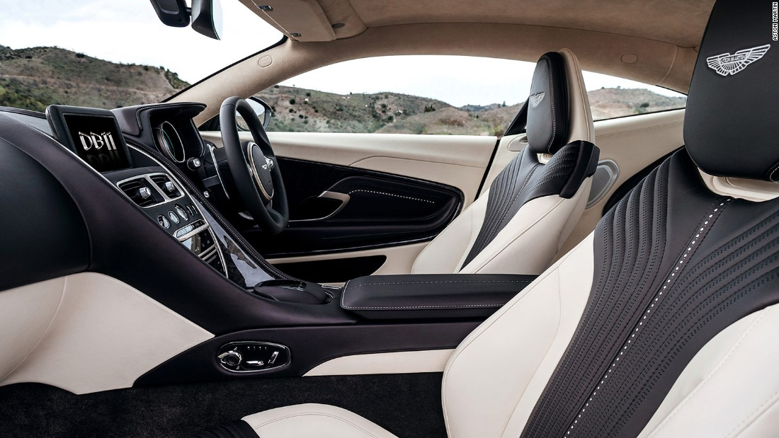 Mercedes influences reveal themselves inside too, which a new infotainment system to rival the likes of Ferrari and McLaren. Double-stitched leather upholstery can be personalized, with a wider gamut of options than the current flagship the Vanquish.