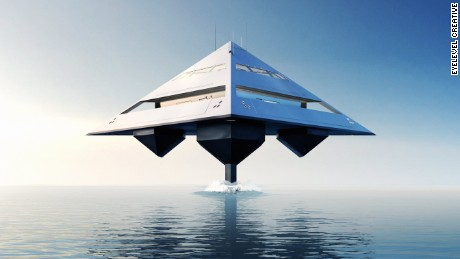 Tetrahedron Super Yacht: The boat that can fly
