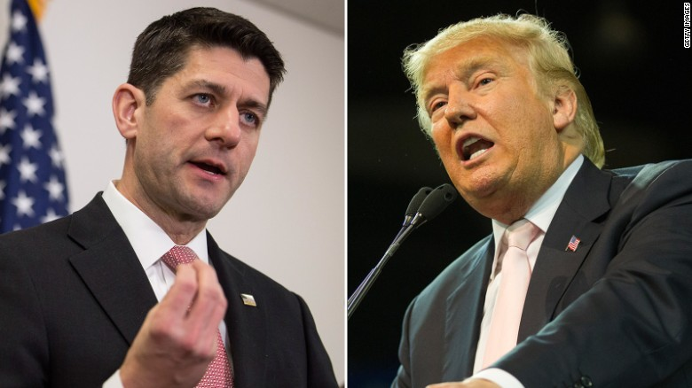 Trump on Paul Ryan: 'I don't want his support'