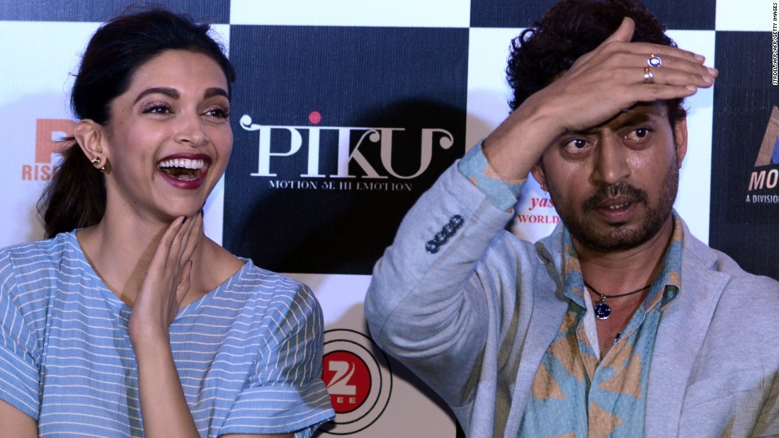 "Padukone starred with Irrfan Khan in Hindi film ""Piku"" in which a daughter -- not a son -- is charged with taking care of her father."