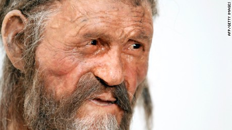 Artist's impression shows what Otzi the Iceman possibly looked like -- now we may hear his voice too.